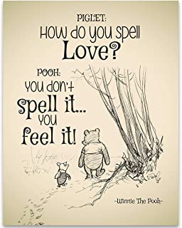 How Do You Spell Love? - Winnie The Pooh - 11x14 Unframed Art Print - Great Child/Boy/Girl/Nursery Room Decor, Also Makes a Great Gift Under $15