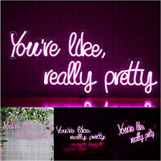 Neon Sign Led Neon Sign Good Vibes Only Neon Signs Wall Sign for Art, Bedroom, Decoration, Custom Neon Sign (Color : -, Si...