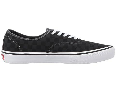 Authentic Negro Vans Asfalto Suede Pro Checkboard v646wdaqc