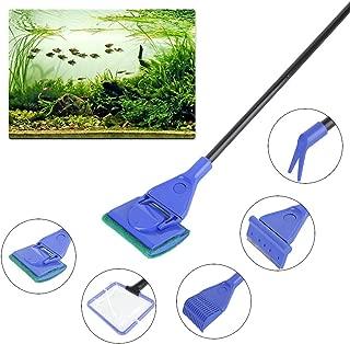 水槽スクレーパー プロレイザー 水槽 苔 コケ取り 掃除用品 クリップ ワイパー フラッター ゴミ取りネット