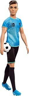 Barbie Ken Soccer Player Doll with Soccer Ball Wearing Soccer Uniform Accessorized with Soccer Socks and Cleats, Gift for ...
