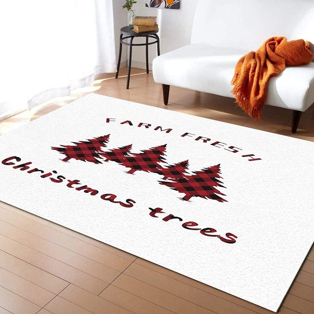 Farm Fresh Red Plaid Christmas Bathr Factory outlet for Rug Tree Luxury goods