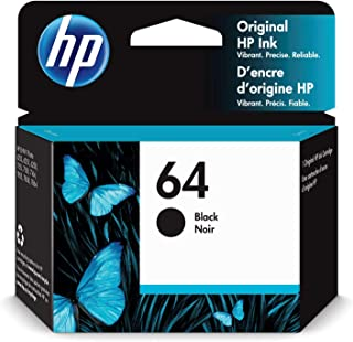 HP 64 | Ink Cartridge | Works with HP ENVY Photo 6200 Series, 7100 Series, 7800 Series, HP Tango and HP Tango X | Black | ...