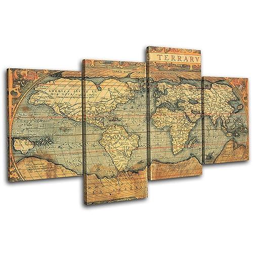 Old World Map Canvas.Old World Maps On Canvas Amazon Co Uk