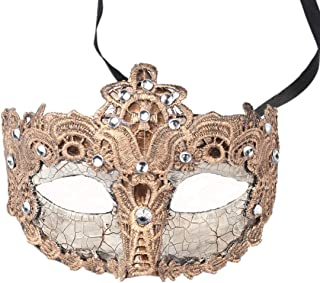 YUFENG Party Costume Mask Half Masquerade Mask Halloween Mardi Gras Cosplay Party Masque