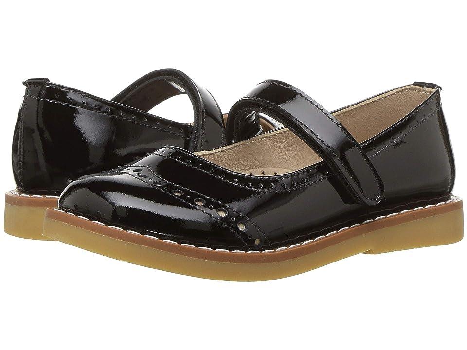 Elephantito Martina Flats (Toddler/Little Kid/Big Kid) (Patent Black) Girls Shoes