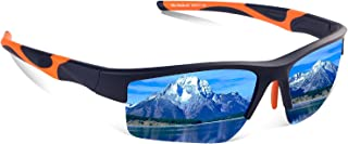 TAC Polarized Sports Floating Sunglasses, 100% UV Protection Impact Resistance Sports Glasses for Men Women Driving Running Climbing Outdoor Activities Unbreakable Lightweight Tr90 Frame
