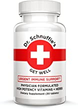 Dr. Schnuffie's Cold + Flu - Immune Support Boost - High-Potency Multi-Vitamins and Natural Herbal Extract Blend - Get Well
