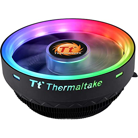 Thermaltake UX100 5V Motherboard ARGB Sync 16.8 Million Colors 15 Addressable LED Intel/AMD Universal Socket Hydraulic Bearing 65W CPU Cooler CL-P064-AL12SW-A