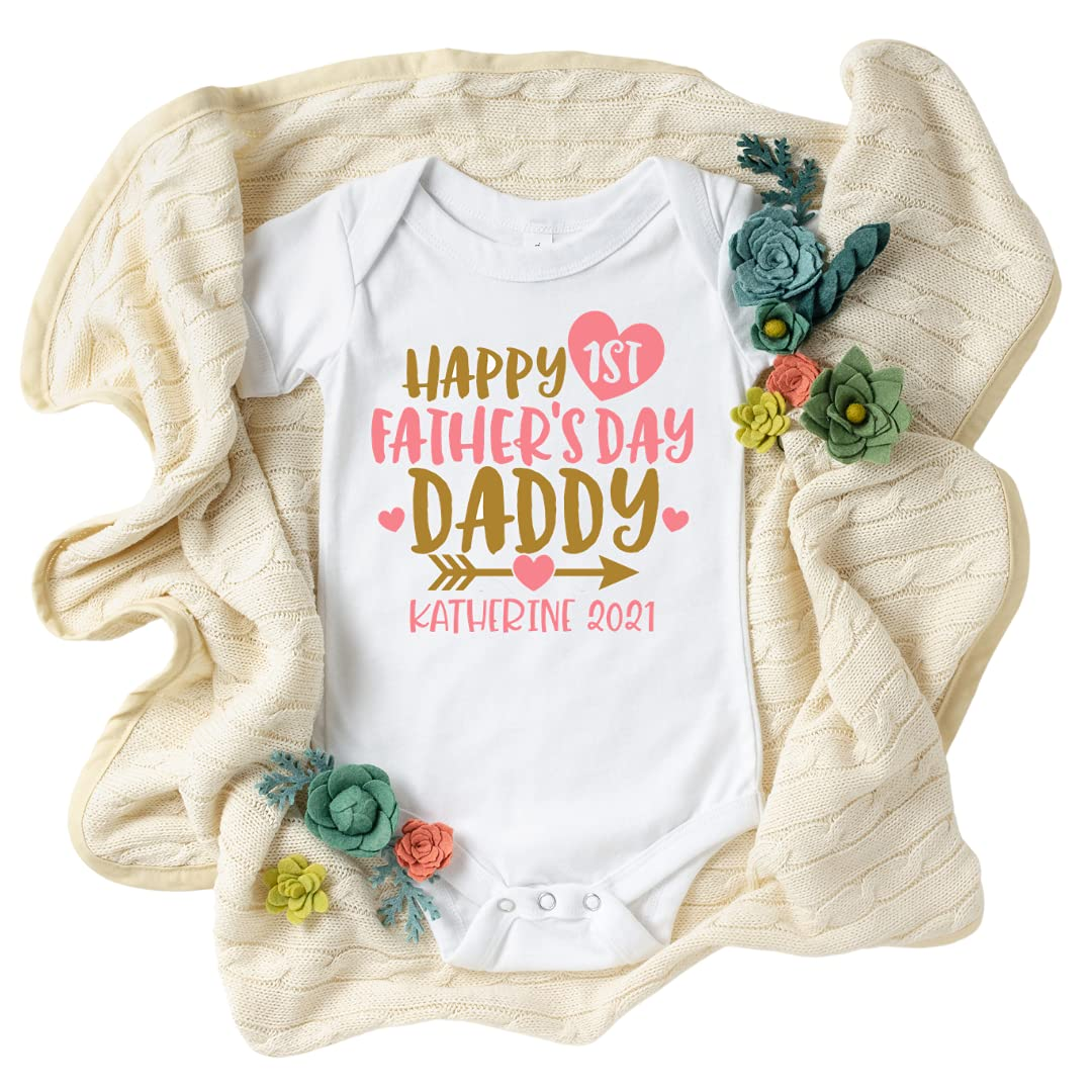 Happy First Fathers Cash special price Surprise price Day Onesie Father's Girl G Daddys
