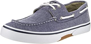 Halyard 2 Eye Boat Shoe -Mens Canvas Navy/Honey 13
