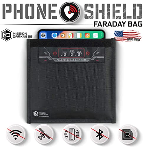 Mission Darkness Non-Window Faraday Bag for Phones - Device Shielding for Law Enforcement, Military, Executive Privac...