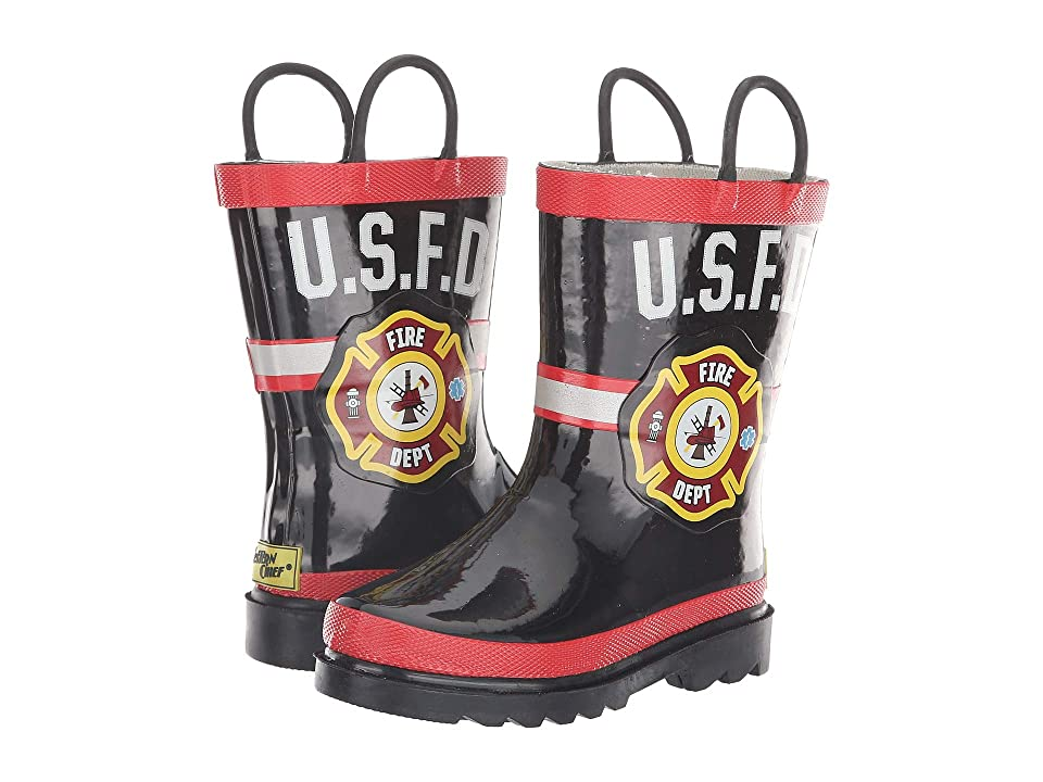 Western Chief Kids U.S.F.D. Fire Dept (Toddler/Little Kid) (Black) Boys Shoes