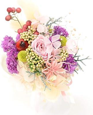 Lulu's ルルズ 桜色コサージュ プリザーブドフラワー 結婚式 ウェディング ブライダル 卒業式 入学式 フォーマル サイズ:縦11×横5×幅5cm コサージュ 桜 Lulu's-1126