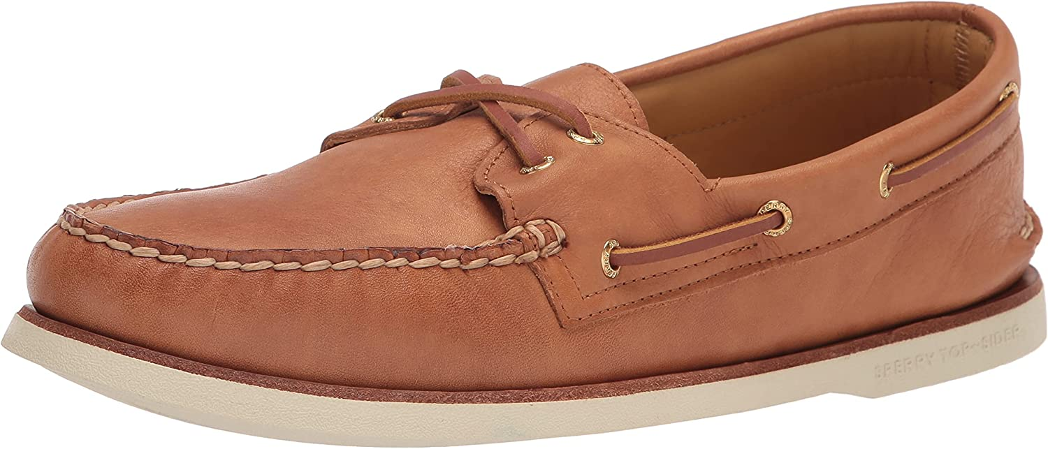 Sperry Men's Gold Cup Authentic Original 2-Eye Boat Shoe, TAN, 14 Wide