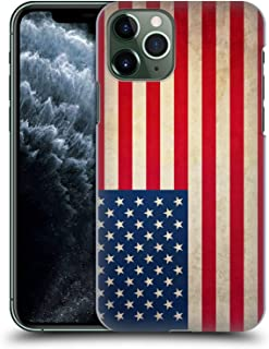 Head Case Designs United States of America USA Vintage Flags Hard Back Case Compatible for iPhone 11 Pro