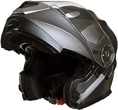 Giallo 55-56cm Qtech Casco MODULARE per Moto con Integrale Doppia Visiera S