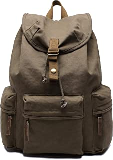 Multi-Functional Backpack, Outdoor Sports Bag, per Multifunction Canvas Backpack Shoulders Bag Cameras Bags Outdoor Sports Bag with Interior Lining & Rain Cover (Color : Army Green)