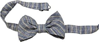 Armani Junior Boy's Woven Bow Tie, Sky Blue, Size M/ 8-12 Made in Italy