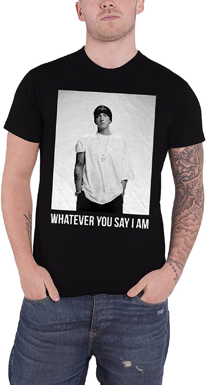 Eminem de los hombres T Shirt negro Whatever You Say I am Oficial