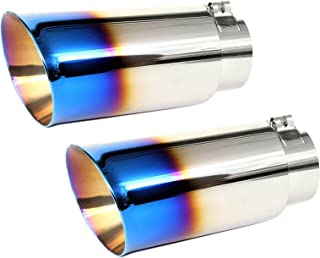 2.5-2.75 Inch Inlet NETAMI NT2468-2 Double Wall Stainless Steel Exhaust Tip 4