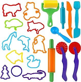 Deeg Gereedschap Kit, 20 Stks Klei Deeg Gereedschap Speel Deeg Rollers Cutters Set voor Kinderen Kinderen, Dier playdeeg v...