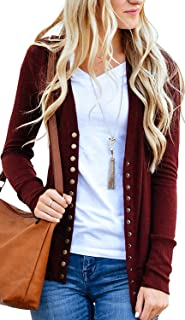 Best deep red cardigan Reviews