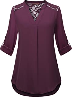 Best ladies tops with lace sleeves Reviews