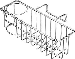 3-in-1 Sponge Holder for Kitchen Sink, Sponge Holder + Brush Holder + Dish Cloth Hanger, Hanging Sink Caddy, 304 Stainless...