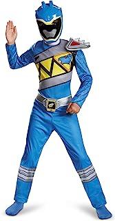 Power Rangers Costume for Boys Blue Dino Charge Kids Beast Morphers Ninja Dinosaur Blue Ranger for Kids