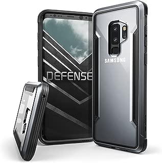 X-Doria Galaxy S9 Plus Case, Defense Shield Protective Aluminum Frame Case Thin Design Shockproof Transparent Case for Samsung Galaxy S9 Plus, Black