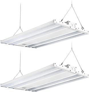 Hyperikon 2 Foot Linear LED High Bay Lights with Motion Sensor, Hanging Shop Light, UL, 165 Watts, 2 Pack