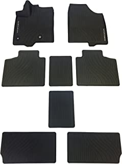 TOYOTA Genuine 2017 Sienna All-Weather Floor Liner Set PT908-08170-02. Black 8 Piece Set.