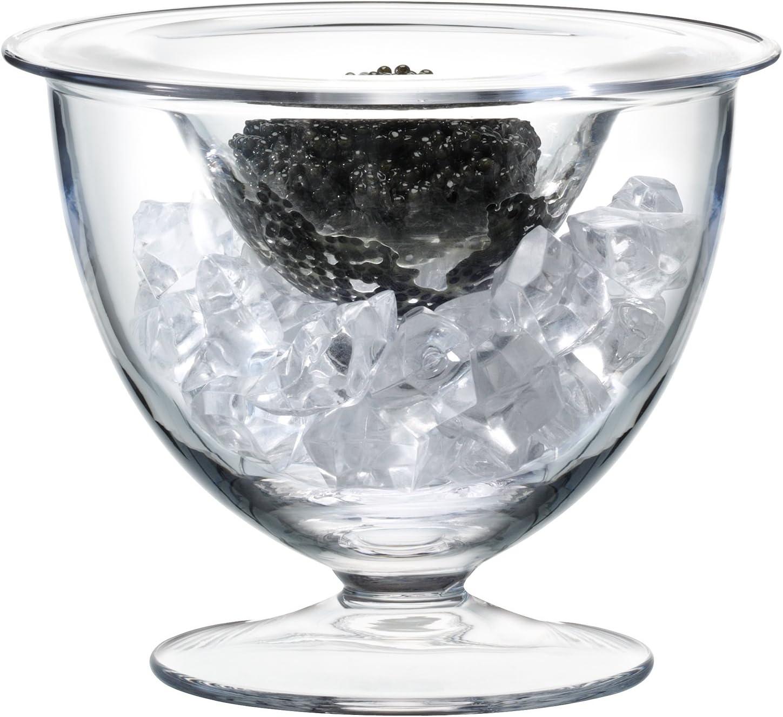 LSA Serve SZ18 - Juego de caviar, 14 cm de diámetro, transparente
