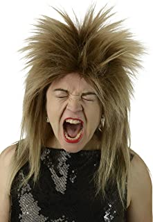 City Costume Wigs 80s Rocker Wig | Tina Turner, 70's, 80's Rock Star Wig, Mixed Brown Blonde Bowie Labyrinth Wig