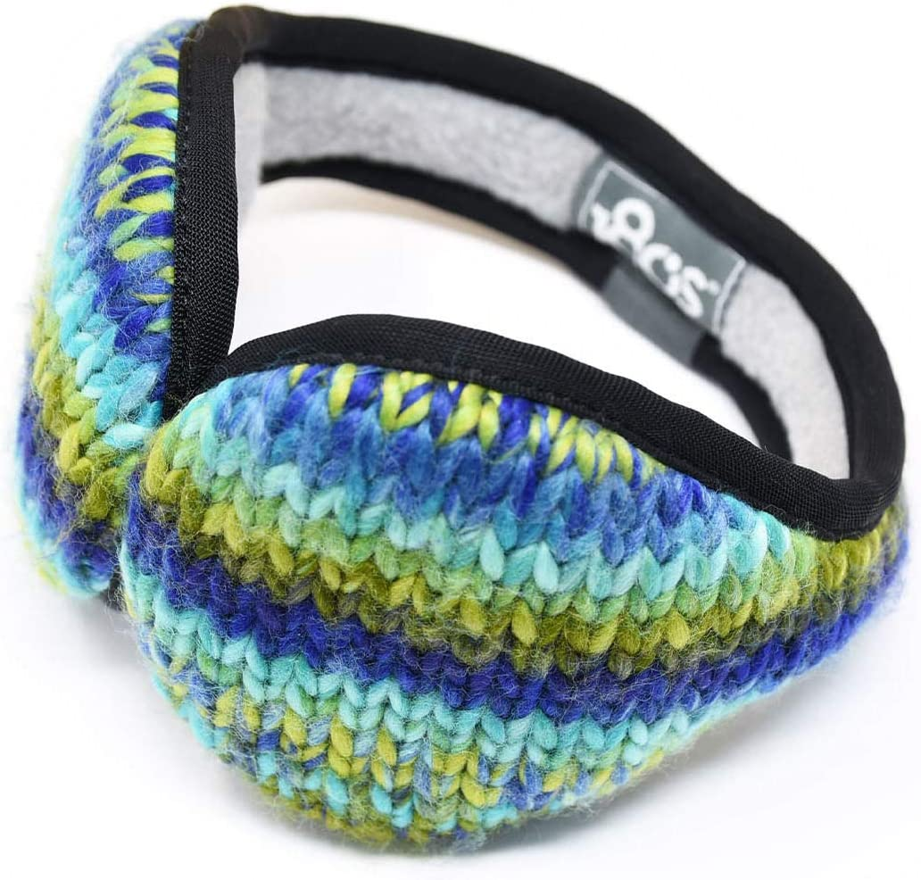 180s Youth Angle Fire Ear Warmer Sweater Knit Fleece Adjustable Fully Collapsible Earmuffs