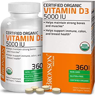 Bronson Vitamin D3 5,000 IU (1 Year Supply) for Immune Support, Healthy Muscle Function & Bone Health, High...