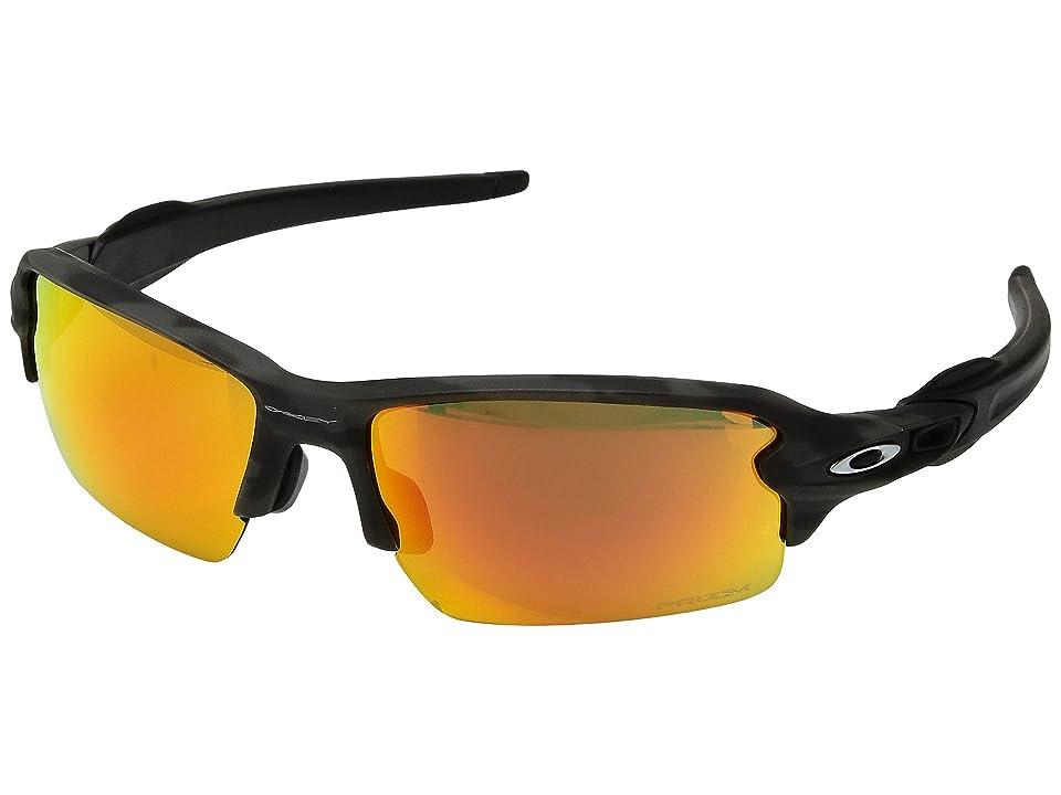 Oakley (A) Flak 2.0 (Black Camo w/ Prizm Ruby) Sport Sunglasses
