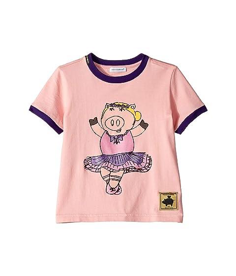 Dolce & Gabbana Kids D&G Ballerina Piggie T-Shirt (Little Kids)