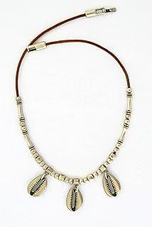 Collana di conchiglie cowrie argento per donne, regalo originale