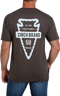 Cinch Men's Arrowhead Logo Graphic Short Sleeve T-Shirt Brown Large