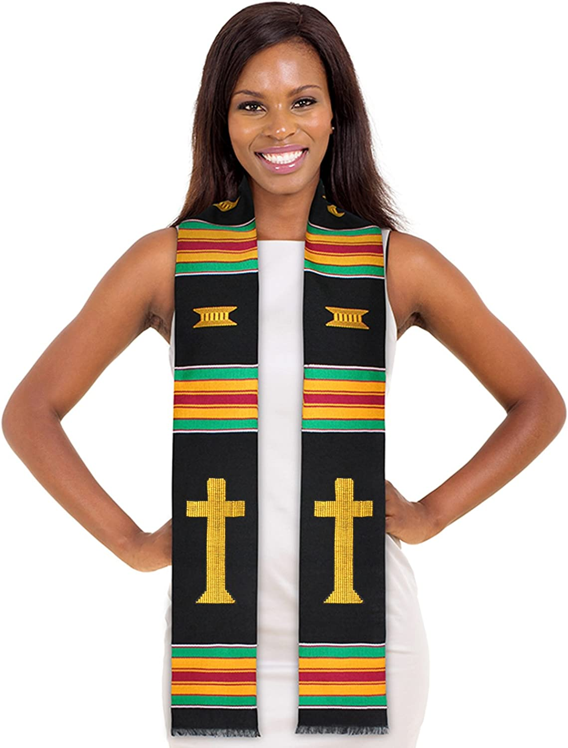 ADVANSYNC Christian Kente Cloth Graduation Stole and Our Daily Bread Book