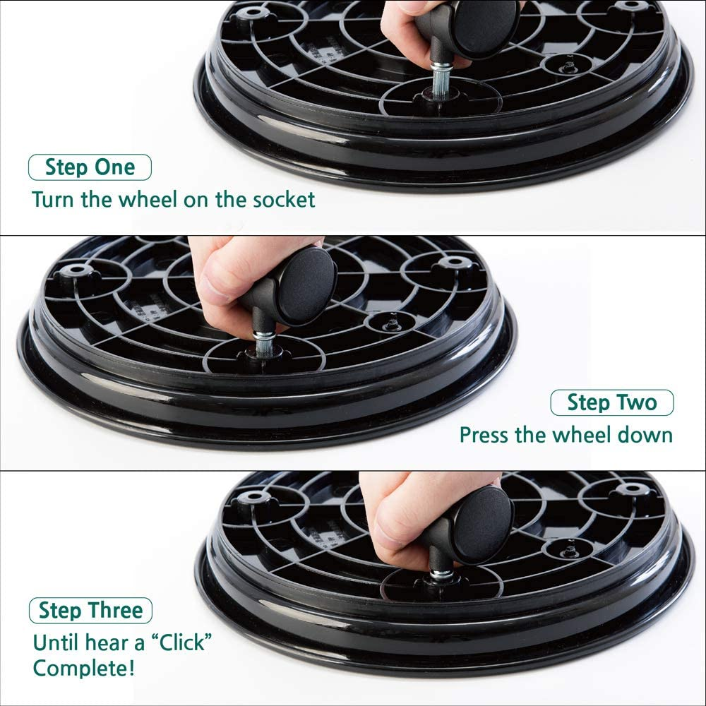 FarmersPick Plant Pot Stand Dolly Caster for Garden Planter Round Flower Pot Mover 1Pack 11.5 Plant Pallet Caddy with Universal Wheels Black