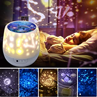 Shayson Night Lights for Kids, 360 Degree Rotating Star Projector Lamp, Romantic Star Sea Ocean Birthday Light Lamp for Kids Baby Room, Baby Nursery Light, Christmas Gift
