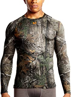 Mission Men's VaporActive Base Layer Long Sleeve Top, Real Tree, Large