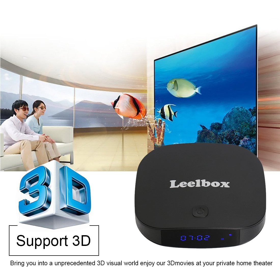 Leelbox Q2 Pro Android 6.0 TV Box Smart TV Box de 2GB RAM+16GB ROM con BT 4.0, Soporta 4K (60HZ)/2.4G y 5.8G Dual-WIFI/HD/H.265: Amazon.es: Electrónica