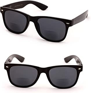 Classic Bifocal Outdoor Reading Sunglasses - Comfortable Stylish Simple Readers Rx Magnification