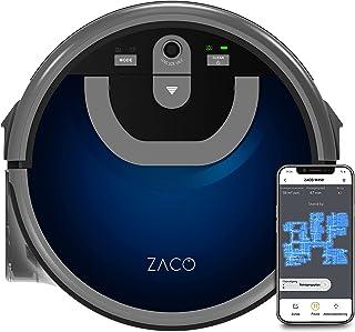 ZACO W450 dweilrobot met extra schoon- en vuilwatertank (nieuw in 2021), tot 80 min. nat dweilen, natzuigrobot voor ca. 60...