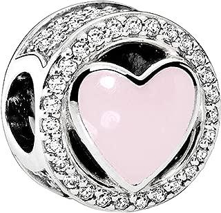 Pandora Women's Pink Wonderful Love Charm - Silver Plated