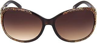Foster Grant Women's SFGF11024 Latte' Sunglasses, Dark Brown, One Size